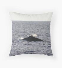 Humpback Dorsal Hump Throw Pillow