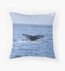 Humpback Fluke Throw Pillow