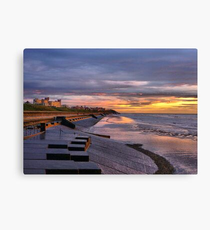 Sunset on the Castle. Canvas Print