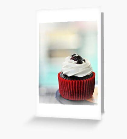 choc mud cupcake Greeting Card