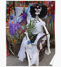 Catrina sitting at a altar for dead persons Poster