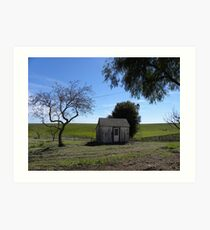 King City Rancho Trees Pasture Bunkhouse Art Print