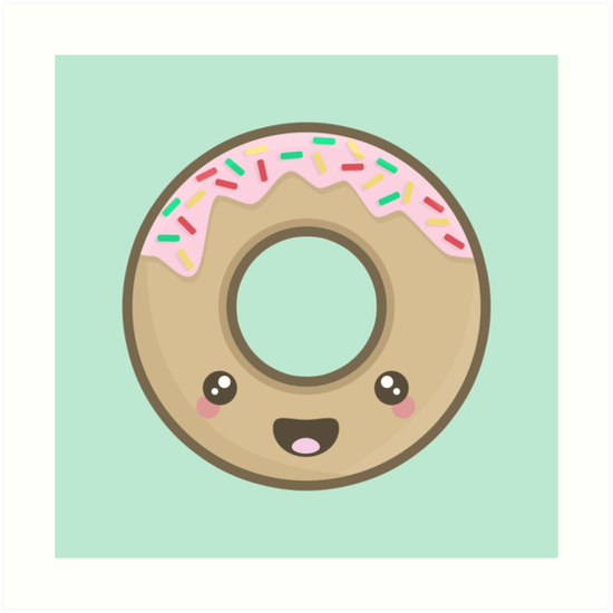 Kawaii Donut by NirPerel