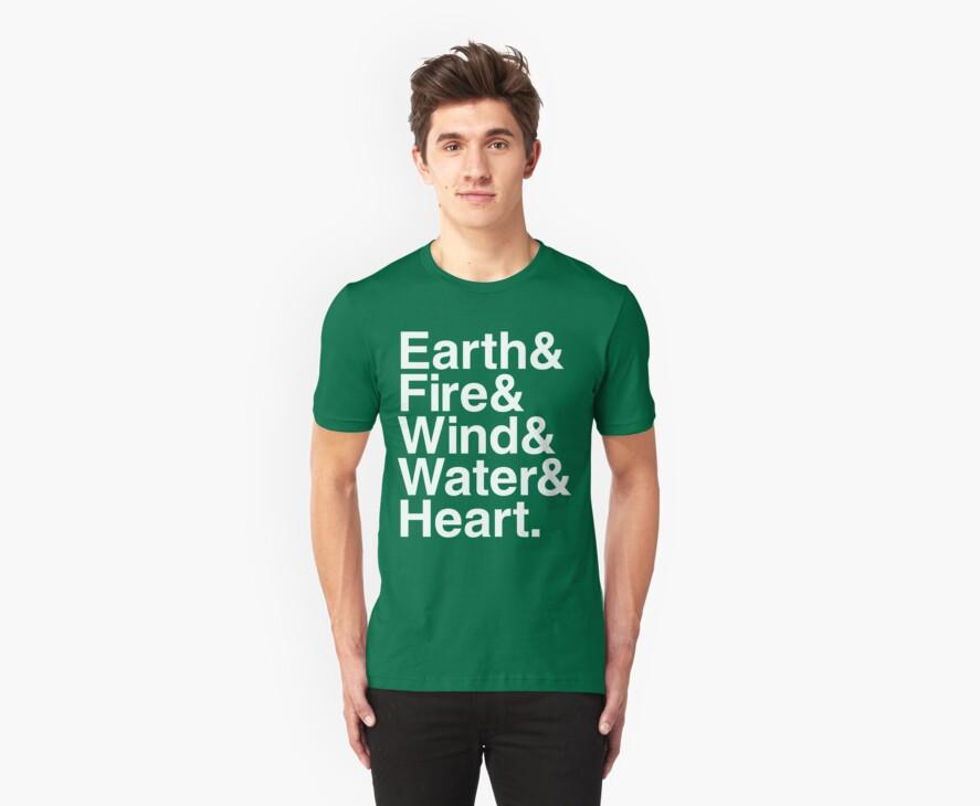 Earth&Fire&Wind&Water&Heart (White) by BiggStankDogg