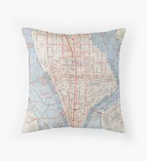 Cojín Vintage Map of Lower Manhattan (1879)