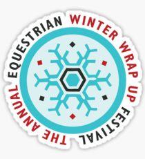 Winter Wrap Up Festival Sticker