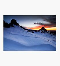 Double Pinnacle Sunset Photographic Print