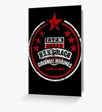 USCM Colonial Marines Greeting Card