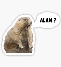 Meerkat - Shouting Alan - No Background Sticker