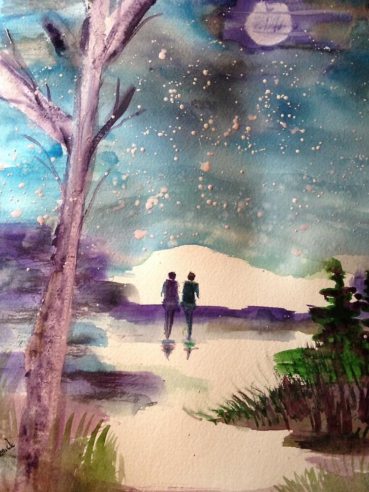 A walk in the Moonlight by Cynthia  Pechenick