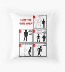 Rocky Horror Picture Show Time Warp Throw Pillow
