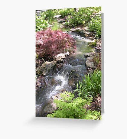 Bubbling Brook in the Garden Greeting Card