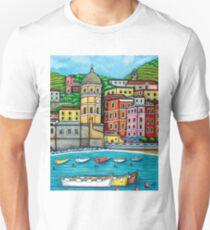 Colours of Vernazza, Cinque Terre Unisex T-Shirt