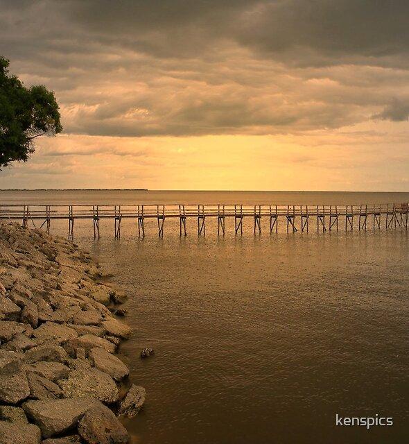 Dockside Sunset by kenspics