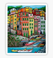 Colours of Riomaggiore, Cinque Terre Sticker