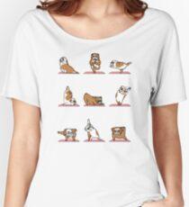 English Bulldog Yoga Women's Relaxed Fit T-Shirt