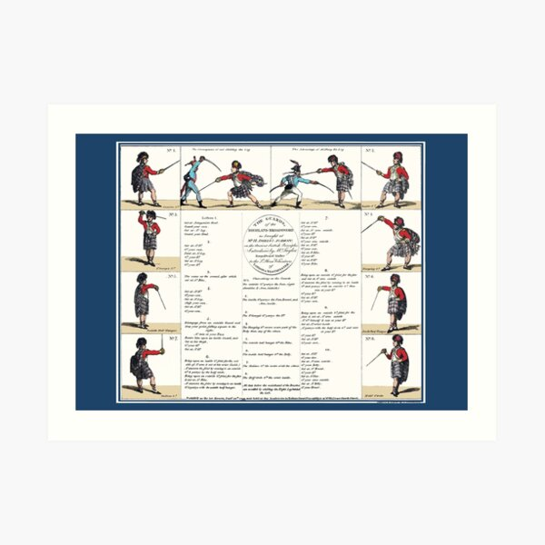 Angelo's The Guard's of the Highland Broad Sword' Art Print
