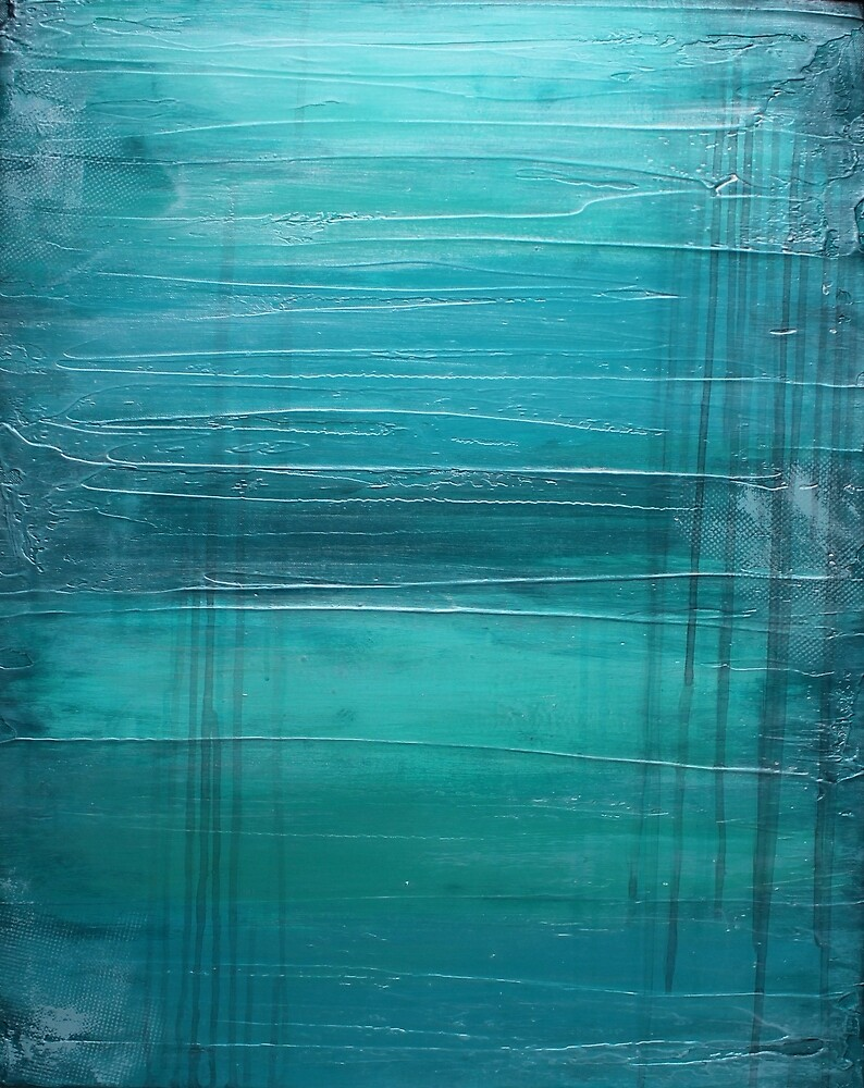 Lagoon - Teal Art by LizMo