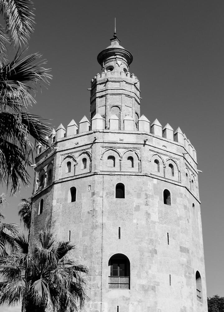 Seville - Torre del Oro  by Andrea Mazzocchetti
