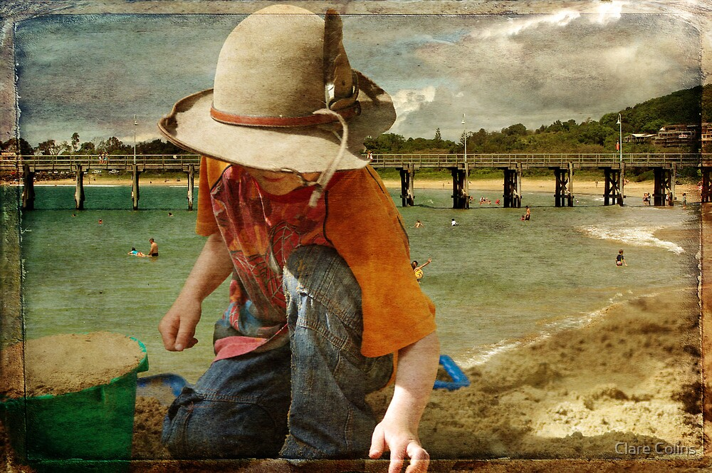 a country boy at the beach by Clare Colins