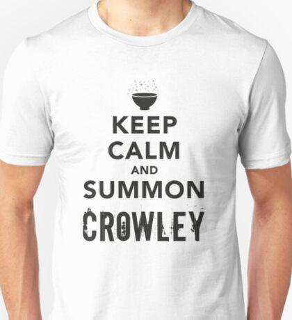 Keep Calm and Summon Crowley [Black] T-Shirt