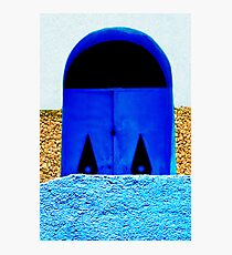 A Wall in Three Parts | The Blue Door Photographic Print