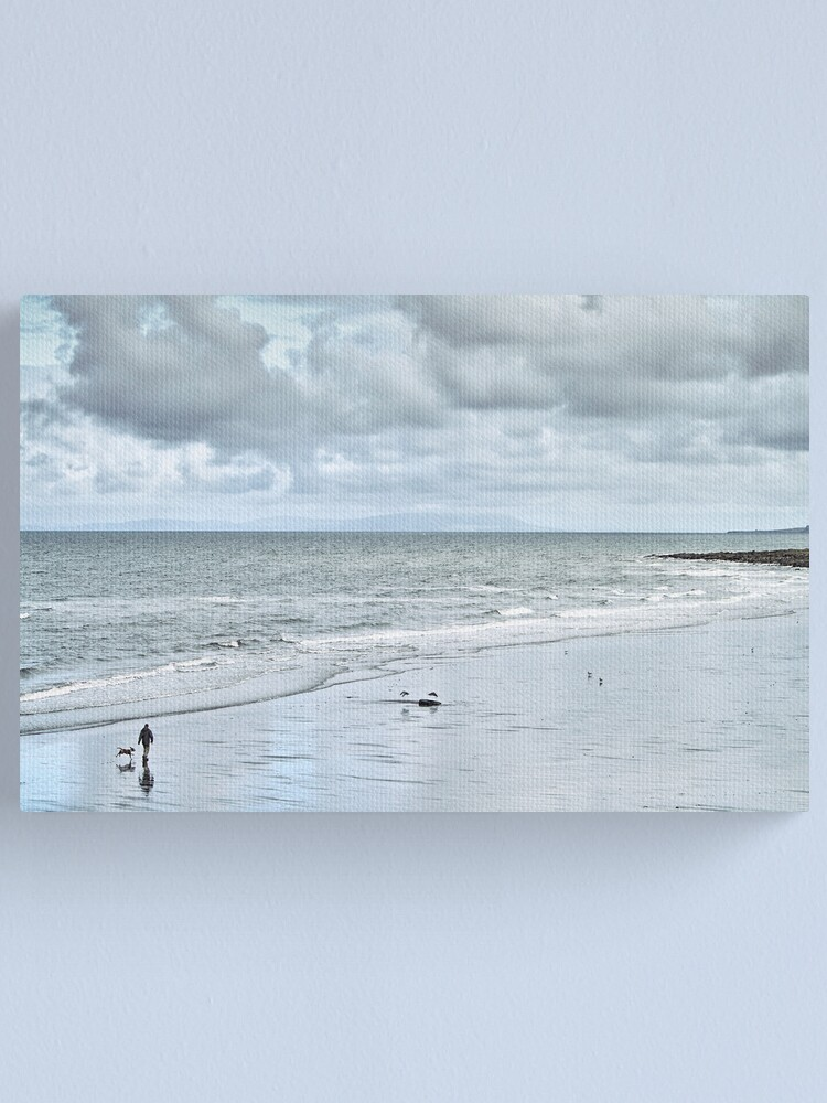Alternate view of man and dog Canvas Print