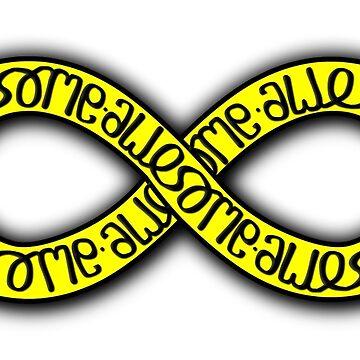 Awesome Infinity Ambigram (reversible image - Horizontal) by flatfrog00