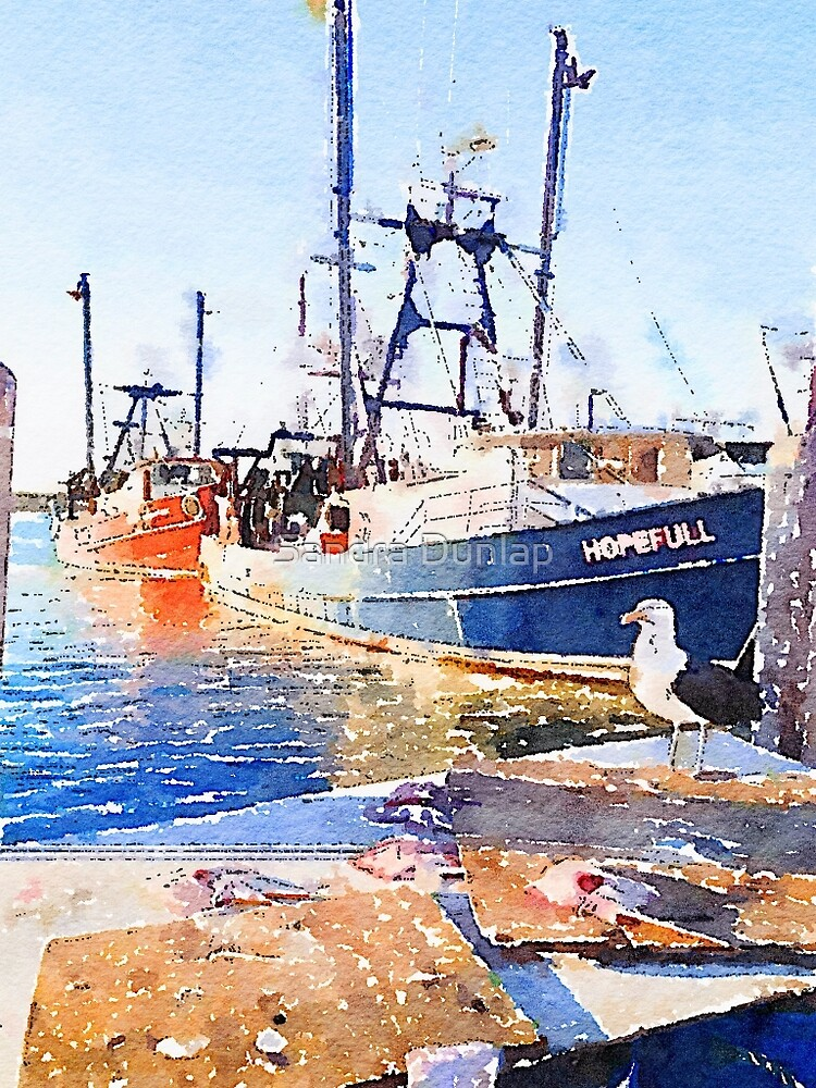 Fishing Boats, Rhode Island by Sandra Dunlap