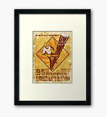 power lineman electrician vintage poster Framed Print