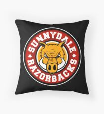 Sunnydale Razorbacks Throw Pillow