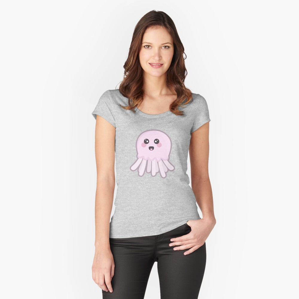 Kawaii Jellyfish Women's Fitted Scoop T-Shirt Front