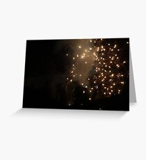 Diwali fireworks in a London suburb Greeting Card