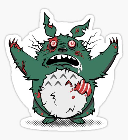 My Undead Totoro Sticker