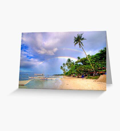 Panglao Island Double Rainbow Greeting Card