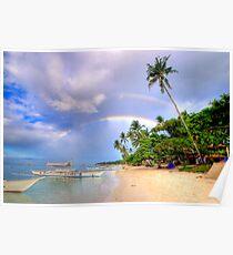 Panglao Island Double Rainbow Poster