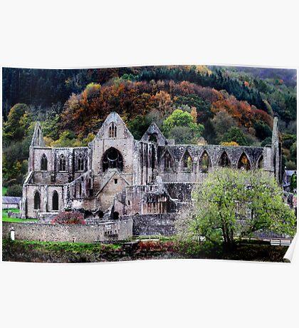 Autumn At Tintern Abbey  Poster
