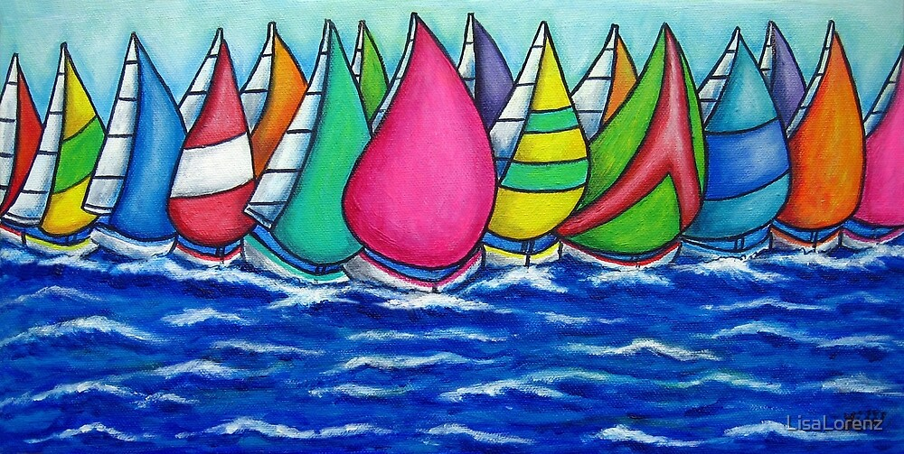 Rainbow Regatta by LisaLorenz