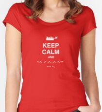 Keep Calm and Carry On - Morse Code T Shirt Women's Fitted Scoop T-Shirt
