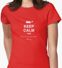 Keep Calm and Carry On - Morse Code T Shirt Women's Fitted T-Shirt