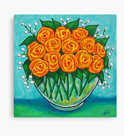 Orange Passion  Canvas Print