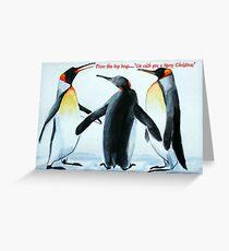 Singing Penguins Greeting Card