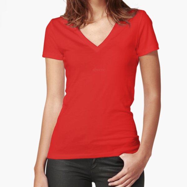 shvrnc 2020 (red) Fitted V-Neck T-Shirt