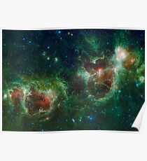 Heart and Soul Nebula IC 1805 Sharpless 2-190 Poster