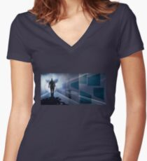 Subway1 Women's Fitted V-Neck T-Shirt