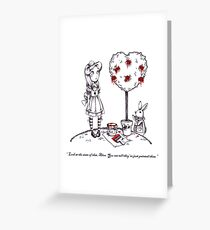 Alice & The White Rabbit Are Not Impressed Greeting Card