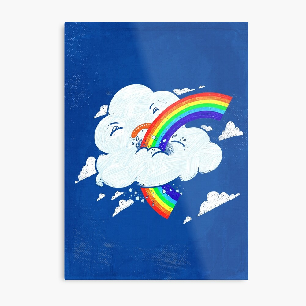 Cloud Hates Rainbow Metal Print