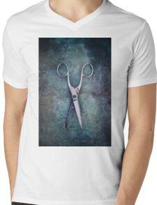 scissors Mens V-Neck T-Shirt