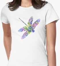 Dragonfly Womens Fitted T-Shirt
