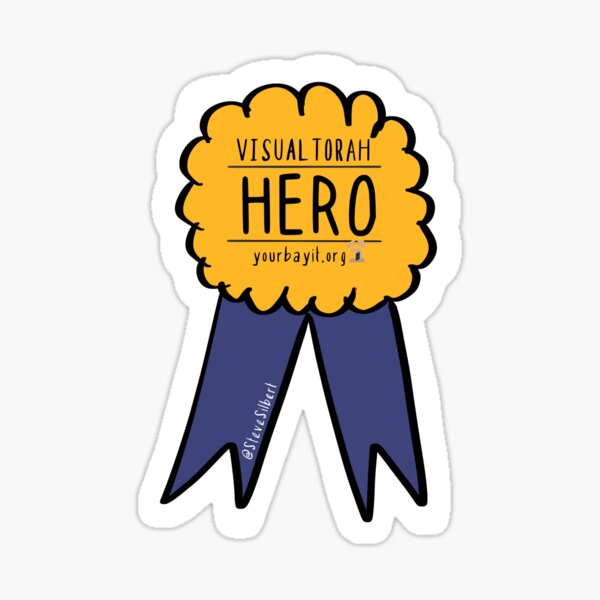 VisualTorah Hero Sticker